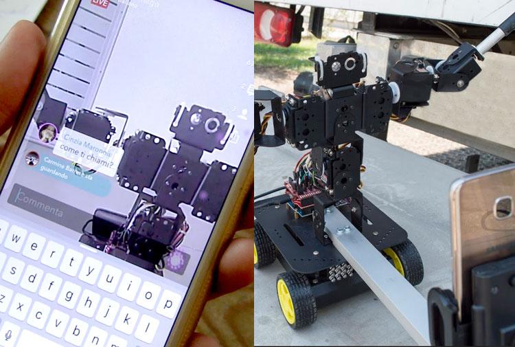 Robro, il robot di Streamago che fa i live video selfie, chatta ed esegue comandi