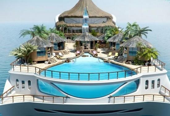 Tropical paradise island lo yacht con un 39 isola tropicale for Il canotto a bordo degli yacht
